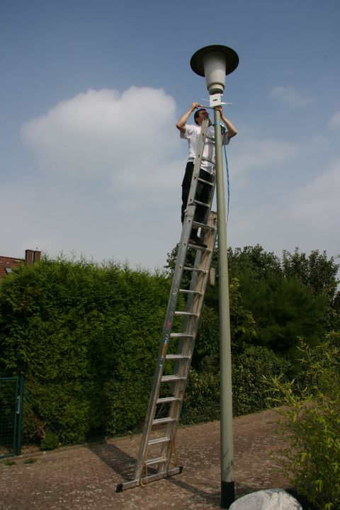 Me on a ladder